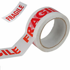 STRONG PACKING TAPE - BROWN / CLEAR / FRAGILE 50mm x 66M Rolls PARCEL TAPE