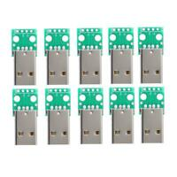 10PCS USB Male to 2.54mm DIP Adapter Converter Boards 4 Pin PCB DIY Power Supply