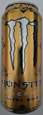 NEW MONSTER ENERGY ULTRA GOLD + ENERGY DRINK 16 FL OZ FULL CAN FREE SHIPPING