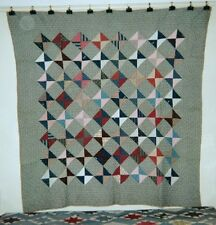 """""""Broken Dishes"""" in a Frame, Quilt, c,1890, from NJ, Cottons"""