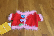 NWT SUPER ADORABLE MICHAEL SIMON DOG SWEATER, SMALL BREED/PUPPY, RED & PINK!!
