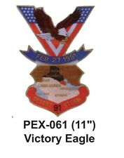 "VICTORY EAGLE Embroidered Military Extra Large Patch (11"")"