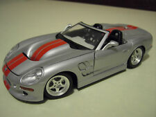 SHELBY 1999 SERIES 1 cabriolet argent au 1/18 de BURAGO