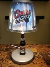 Coors Light Silver Bullet Motion Table Lamp Sign