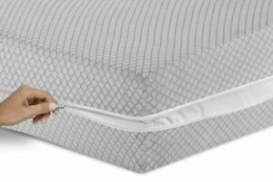 Grey Diamond Zippered 100% Waterproof Mattress Protector Full Encasement cover
