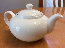 10 Strawberry Street Mini Teapot. White. Holds 3 Cups. New.