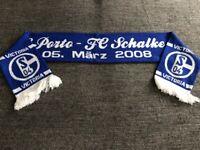 Schal Spielschal Scarf Matchschal FC Porto - FC Schalke 04