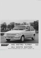 AUSTIN ROVER MG METRO ALL WHITE EDITION PRESS PHOTO 'BROCHURE CONNECTED' 1986