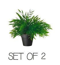 SET OF 2 IKEA ARTIFICIAL POT PLANT FAKE GREEN INDOOR OUTDOOR FEJKA