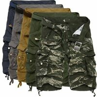 Stylish Relaxed Mens Military Army Combat Trousers Camo Short Pants Cargo Shorts