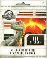 111 JURASSIC WORLD SCRAPBOOK DINOSAUR STICKERS NEW LOWER PRICE! STICKER FREE S/H