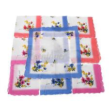 30pcs Handkerchief 100 Cotton Pocket Square Hanky Soft Absorbent Vintag HT