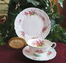SHELLEY Fine Bone China  **BLOSSOM**, #13429  TRIO  Footed Oleander Shape