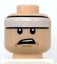 2x LEGO® Kopf mit Stirnband und Goldenem Emblem Ninja 3626bpx7 NEU Gelb