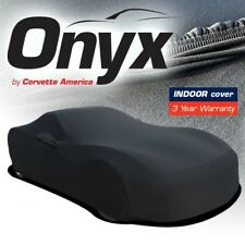 C6 Corvette Onyx Black Satin Car Indoor Cover Stretch Fits All 05-13 Corvettes