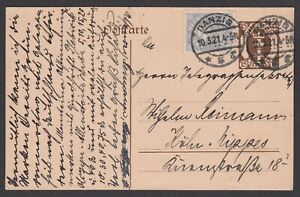 Germany. Danzig. 1921 Postcard to Koln? Gepruft.