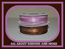 7/8 Inch Organza Ribbon With Satin Center- 25 Yard Rolls- Great For Weddings
