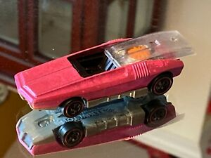 Vintage Hot Wheels Redline 1969 pink Whip Creamer with black interior