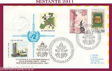 W531  VATICANO FDC ROMA GIOVANNI PAOLO II WOJITYLA  NAZIONI UNITE ONU 1979