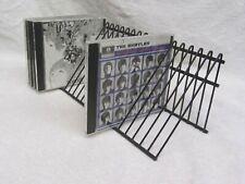CD Rack Storage Jewel Case Holder Stand Organizer Metal Disc Decor Black