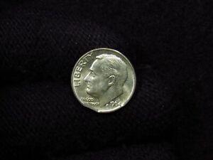 1964 Roosevelt Dime MINT ERROR DOUBLE CLIPPED
