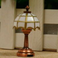 Miniature LED Light Lamp with Button Battery 1:12 Dolls House .UK Decor Hom H2P0