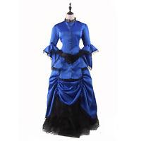 Victorian Edwardian Renaissance Classic Costume Gothic Lolita party Prom Dress @
