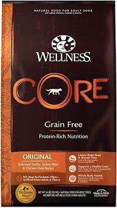 Wellness CORE Natural Grain Free Original Turkey & Chicken Dry Dog Food 24 lbs