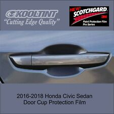 3M Paint Protection film for the Door Cup of the 2016 - 2018 Honda Civic Sedan