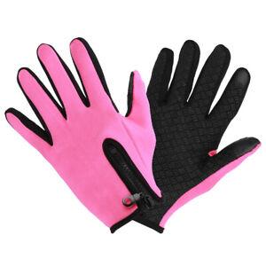 Fleeces Touchscreen Gloves for Outdoor Mountaineering Antislip Waterproof (XL )