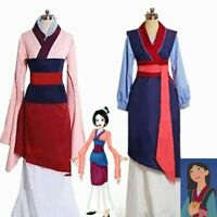 Hua Mulan Princess Party Fancy Dress Movie Cosplay Costume Halloween Adults Kids