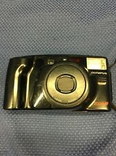 V4 OLYMPUS AZ-230 SUPER ZOOM 35MM POINT & SHOOT FILM CAMERA & CASE, STRAP & BOOK