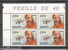 "2009-LOUIS BLERIOT-AVION-MANCHE"" 4 TIMBRES-ISSUE DE LA FEUILLE-Yt.PA.72"