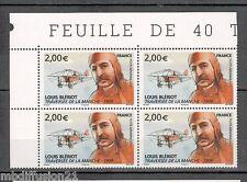 """2009-LOUIS BLERIOT-AVION-MANCHE"""" 4 TIMBRES-ISSUE DE LA FEUILLE-Yt.PA.72"""