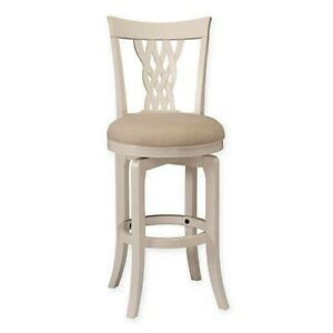 Hillsdale Embassy Weave Swivel Bar Stool White Open Box Great Condition