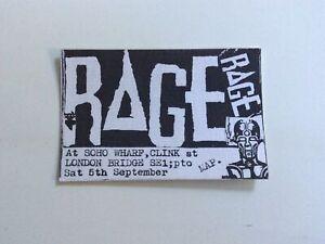 Rage - Rave flyer September 1988