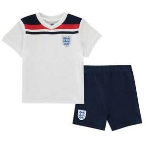 Kids Infants England White Home Official Retro Kit Euro 2020 Baby Kit