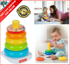 Fisher Price Baby Kids Toddler Learning Basics Brilliant Rock a Stack Toy Toys