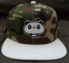 Panda Adult Camo Green Snapback Hat Streetwear Cap