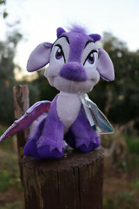 ✨2008 Neopets faerie Ixi plush toy - Keyquest with sealed tag - Cute purple goat