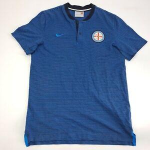 Melbourne City Nike Mens Large A League Volunteer Polo Shirt Football Soccer