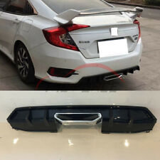 Gloss Black Rear Bumper Spoiler Body Kits For Honda CIVIC 10th 2016-2019
