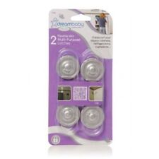 DreamBaby Mini Latches Child Cupboard Cabinet Safety Locks 2PK - Silver L1008