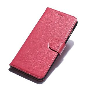New Phone Case for iPhone 7 Plus Genuine Leather Pink Red Black Navy