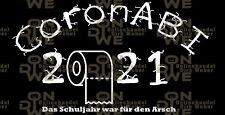 """Heckscheibenaufkleber """"CoronABI 2021"""" Abitur, Corona, (1147)"""