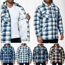 Uomo Camicia Taglialegna Pianura Felpa Giacca Maglietta termica flanella Shirt