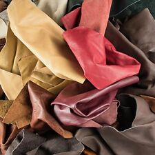 Genuine Leather Scraps Upholstery Leather Authentic Leather 2LB Standard Colors