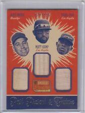 DUKE SNIDER / MATT KEMP / YASIEL PUIG PANINI TRIPLE GAME USED BAT CARD #d/125 $$