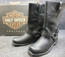 New Harley Westmore Mens Black Mid Calf Slip On Boots Shoes Size 10 D93315 #C178