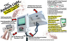 Wicked Lights Solar Mounted Feeder Light w Green LED, Hog Night Hunting, T-Post